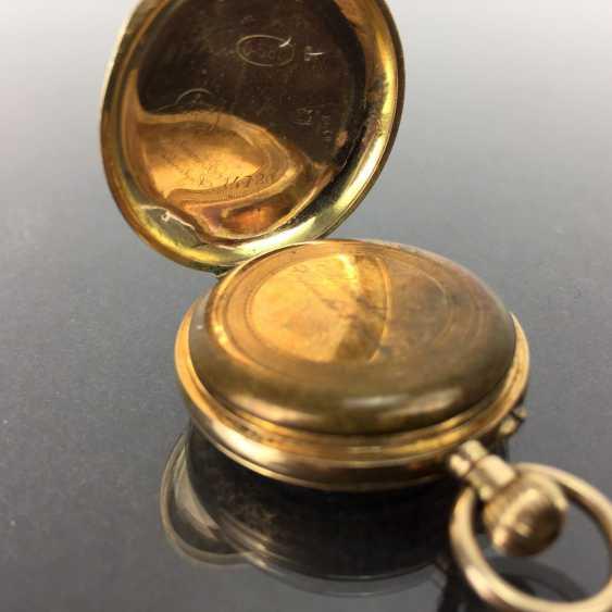 Ladies pocket watch, art Deco, art Nouveau, yellow gold 585 / 14 K, fine engraved, 1900. - photo 2