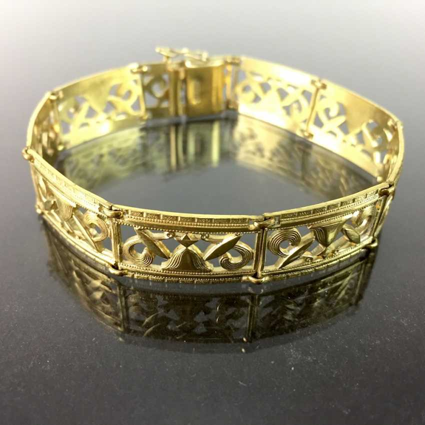 Bracelet in Antique-Stik, Gold Doublée, open work, circa 1920, very nice. - photo 1