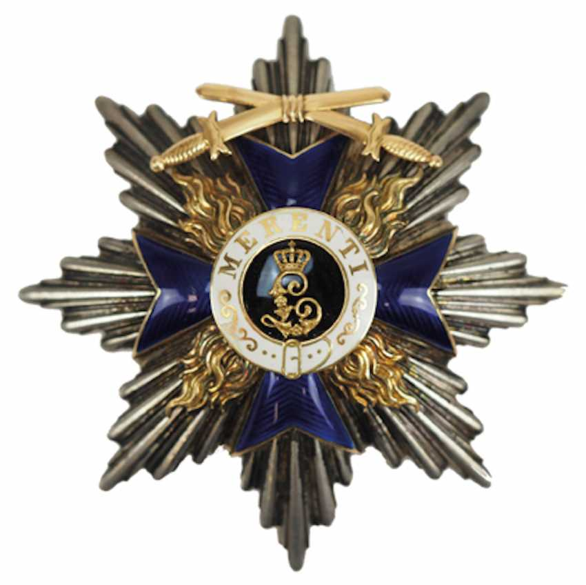 Bavaria: Military-Merit-Order, 1. Class (1905-1918), breast star with swords. - photo 1