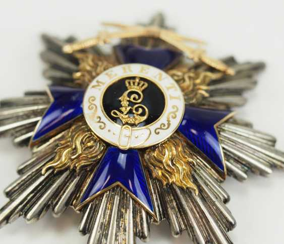 Bavaria: Military-Merit-Order, 1. Class (1905-1918), breast star with swords. - photo 2