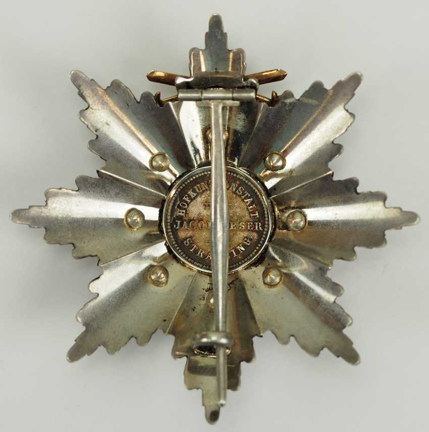 Bavaria: Military-Merit-Order, 1. Class (1905-1918), breast star with swords. - photo 5