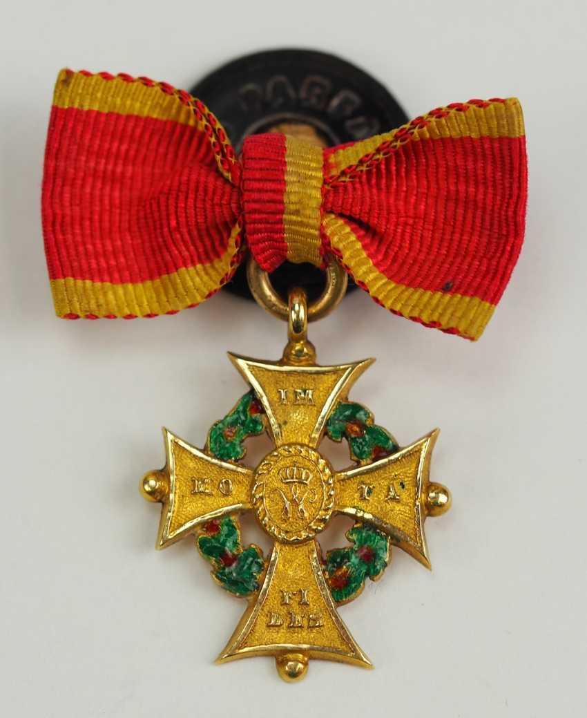 Braunschweig: Hausorden d'Henri le Lion, Croix de 1. Classe Miniature. - photo 1