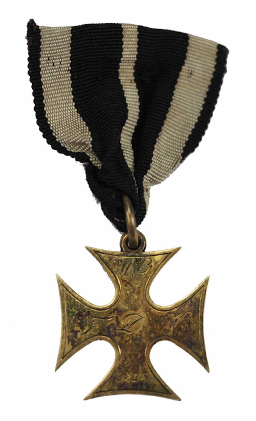 Francfort: la croix d'honneur pour les Treugebliebenen de 2. Landwehr Bataillon (Fulda) pour en 1814, pour les Officiers. - photo 1