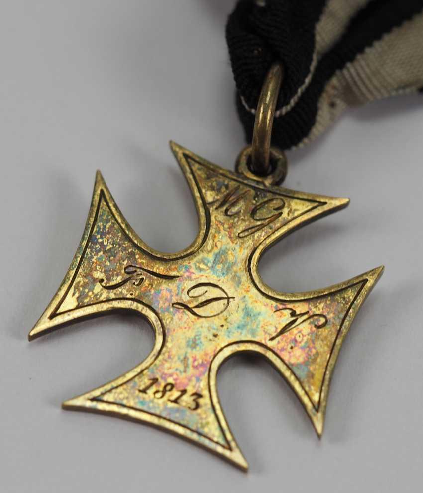 Francfort: la croix d'honneur pour les Treugebliebenen de 2. Landwehr Bataillon (Fulda) pour en 1814, pour les Officiers. - photo 2