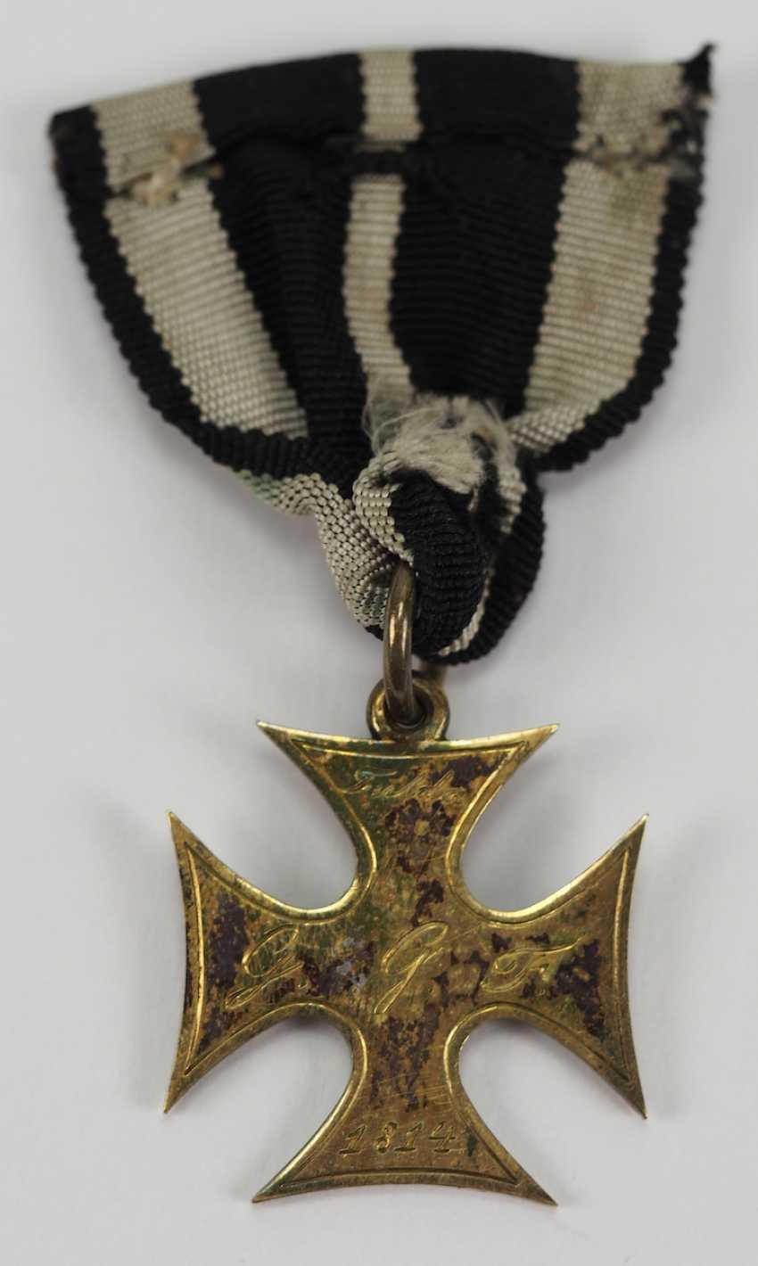Francfort: la croix d'honneur pour les Treugebliebenen de 2. Landwehr Bataillon (Fulda) pour en 1814, pour les Officiers. - photo 3