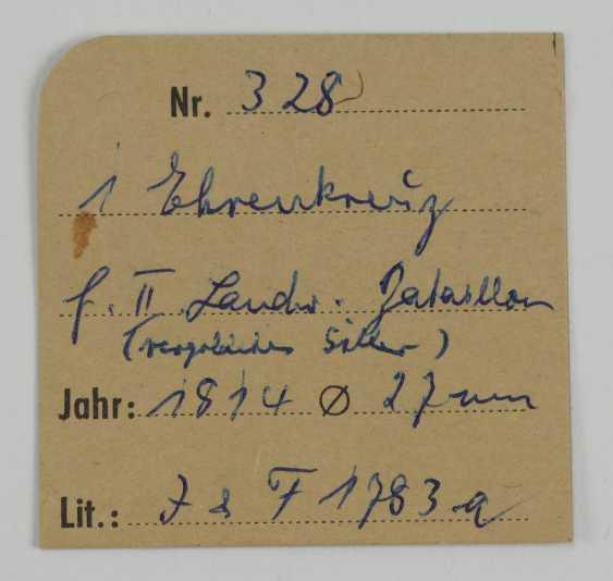 Francfort: la croix d'honneur pour les Treugebliebenen de 2. Landwehr Bataillon (Fulda) pour en 1814, pour les Officiers. - photo 5