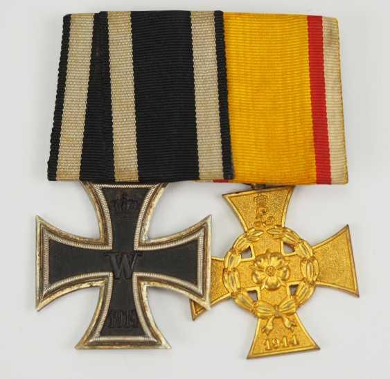 Lippe-Detmold: Ordenschnalle d'une Guerre mondiale des anciens combattants. - photo 1