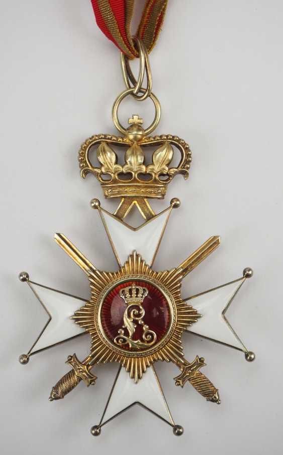 Lippe-Detmold: Fürstlich Lippischer Hausorden, 2. Modèle (1890-1918), La Croix D'Honneur 1. Classe avec Épées, dans un Étui. - photo 6