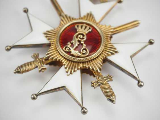 Lippe-Detmold: Fürstlich Lippischer Hausorden, 2. Modèle (1890-1918), La Croix D'Honneur 1. Classe avec Épées, dans un Étui. - photo 8