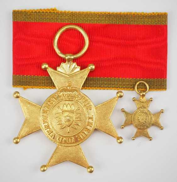 Schaumburg-Lippe: Fürstlich Lippischer Hausorden, Croix d'Or, avec Vignette. - photo 1