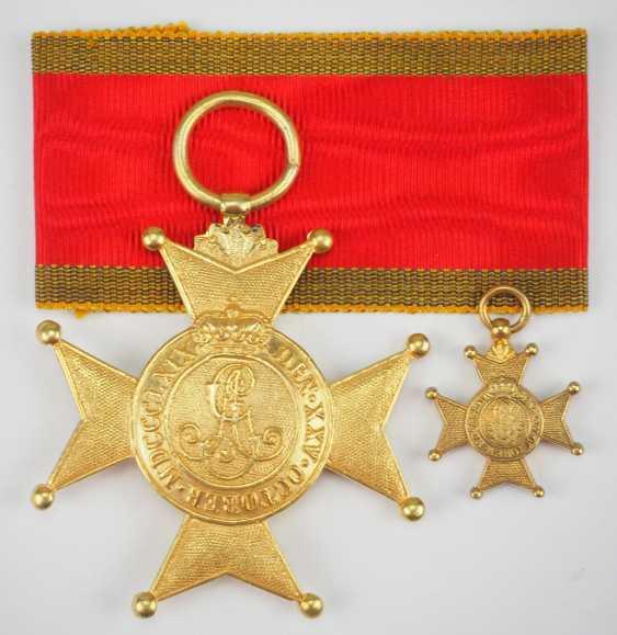 Schaumburg-Lippe: Fürstlich Lippischer Hausorden, Croix d'Or, avec Vignette. - photo 3