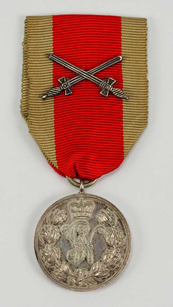 Schaumburg-Lippe: Argent Militärverdienst Médaille, avec des Épées croisées. - photo 1