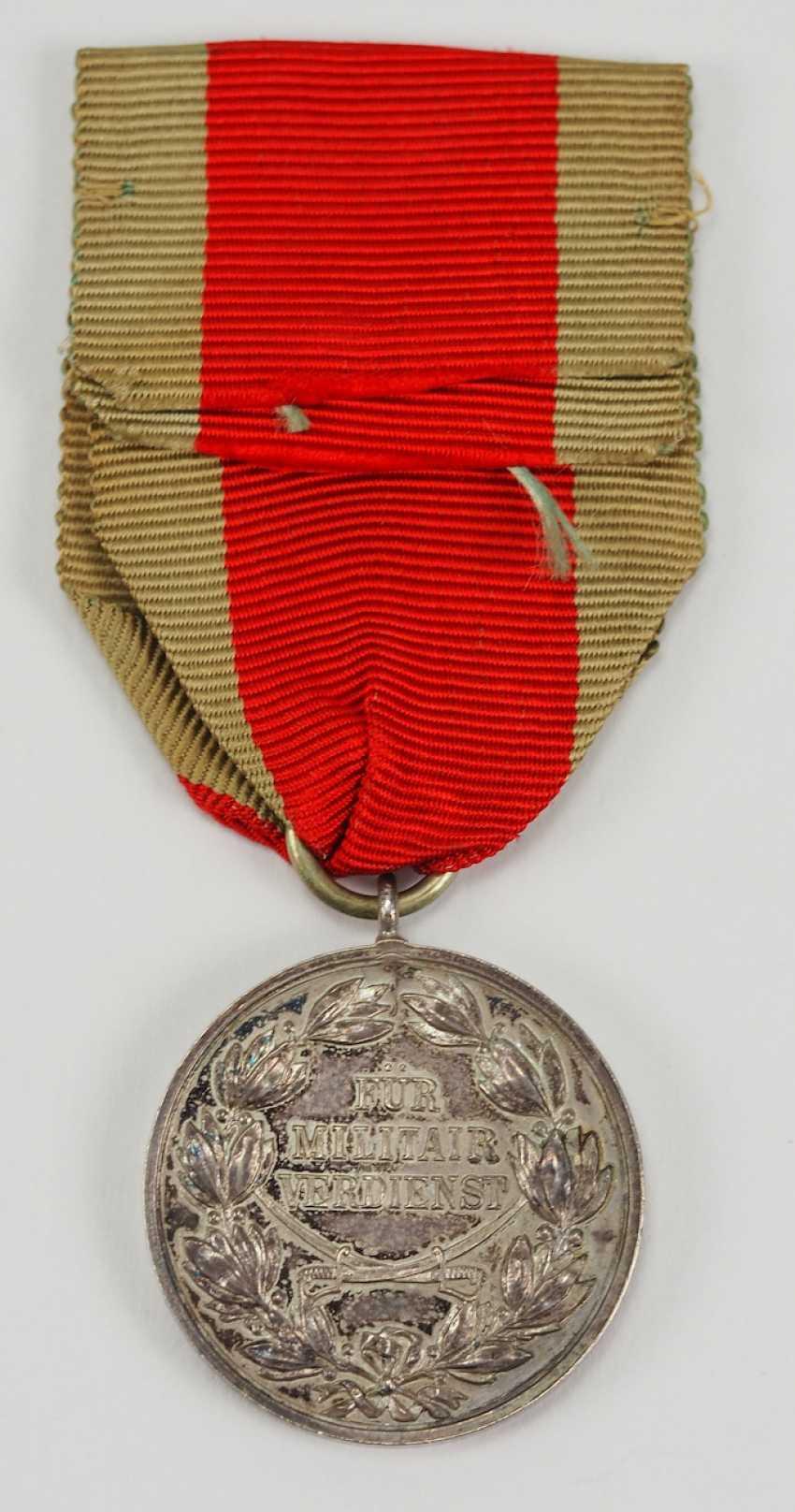 Schaumburg-Lippe: Argent Militärverdienst Médaille, avec des Épées croisées. - photo 3