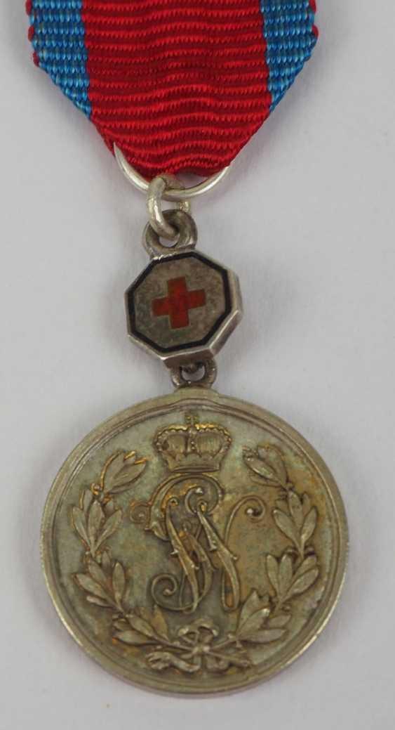 """Schaumburg-Lippe: Argent Militärverdienst Médaille avec """"la Croix Rouge"""" Miniature. - photo 1"""