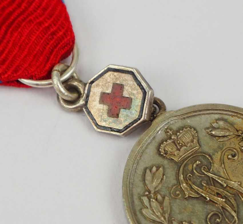 """Schaumburg-Lippe: Argent Militärverdienst Médaille avec """"la Croix Rouge"""" Miniature. - photo 2"""
