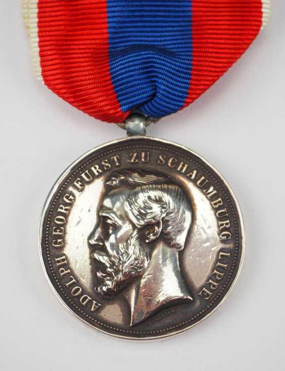 Schaumburg-Lippe: Médaille D'Argent (1885-1890). - photo 1