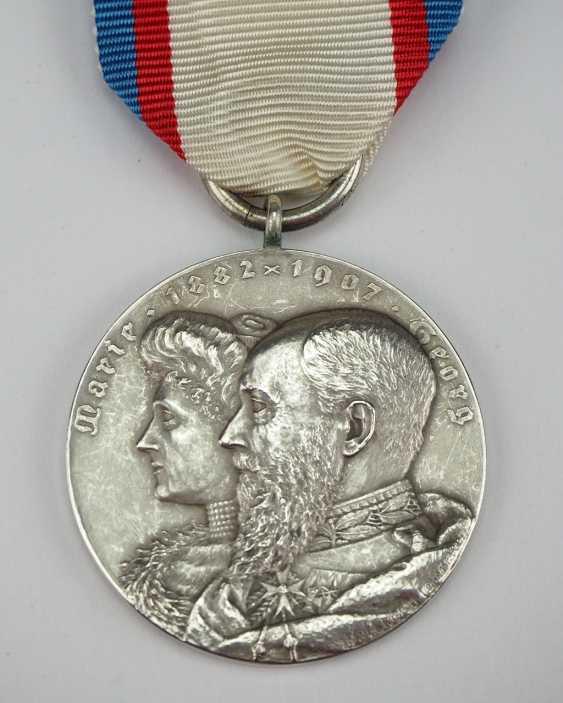 Schaumburg-Lippe: Médaille aux Noces d'Argent en 1907. - photo 1