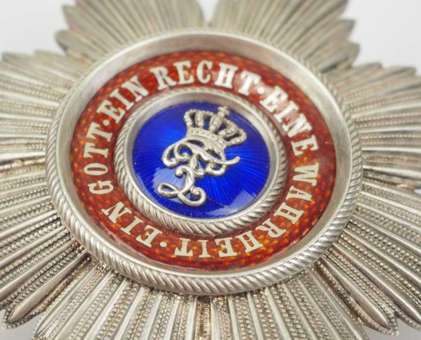 Oldenburg: Maison et de l'ordre du Mérite du Hezogs Peter Friedrich Ludwig, Étoile de grand-Croix. - photo 2