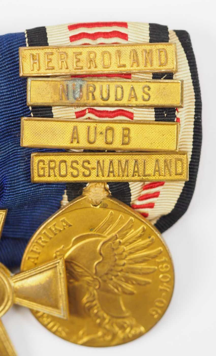 Prusse: Ordenschnalle un hochdekorierten sous-officier de la Force de protection pour le sud-Ouest africain Allemand avec 5 Récompenses. - photo 4