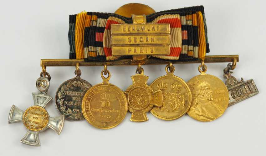 Prusse: Miniaturenbarett avec 7 Récompenses d'un langgedienten Fonctionnaires de l'état. - photo 1