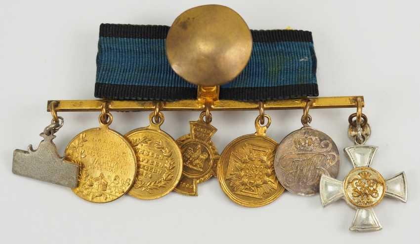 Prusse: Miniaturenbarett avec 7 Récompenses d'un langgedienten Fonctionnaires de l'état. - photo 4