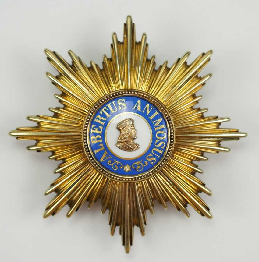 Saxony: Albrechtsorder, 2. Model (1876-1918), Golden breast star to the special stage. - photo 1