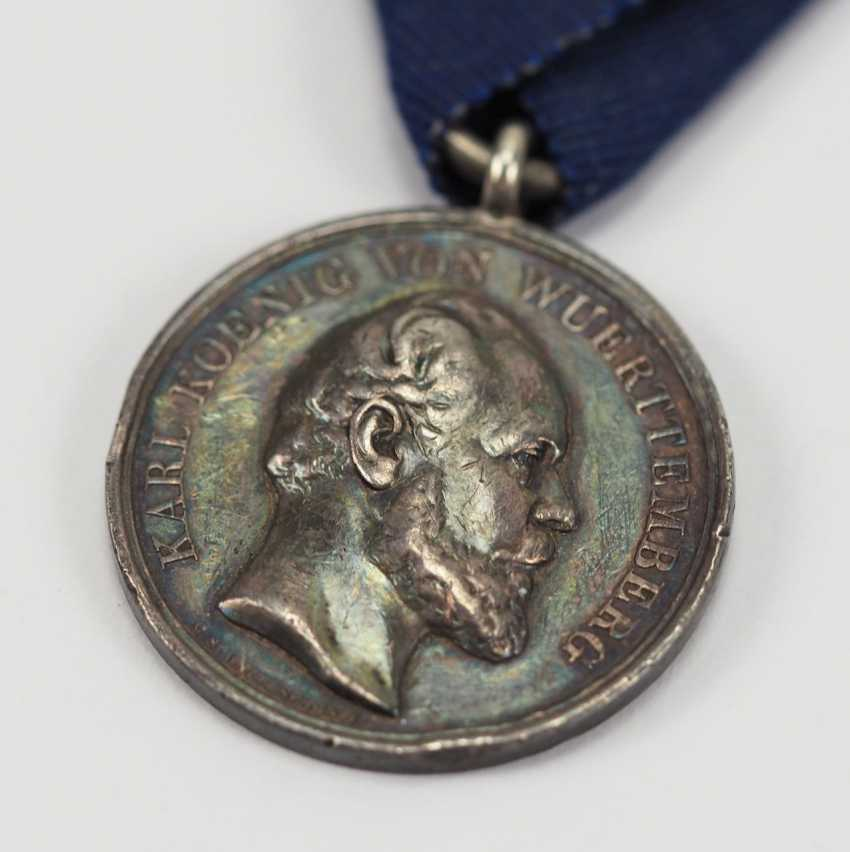 Württemberg: military merit medal, Karl (1864-1891), silver. - photo 2