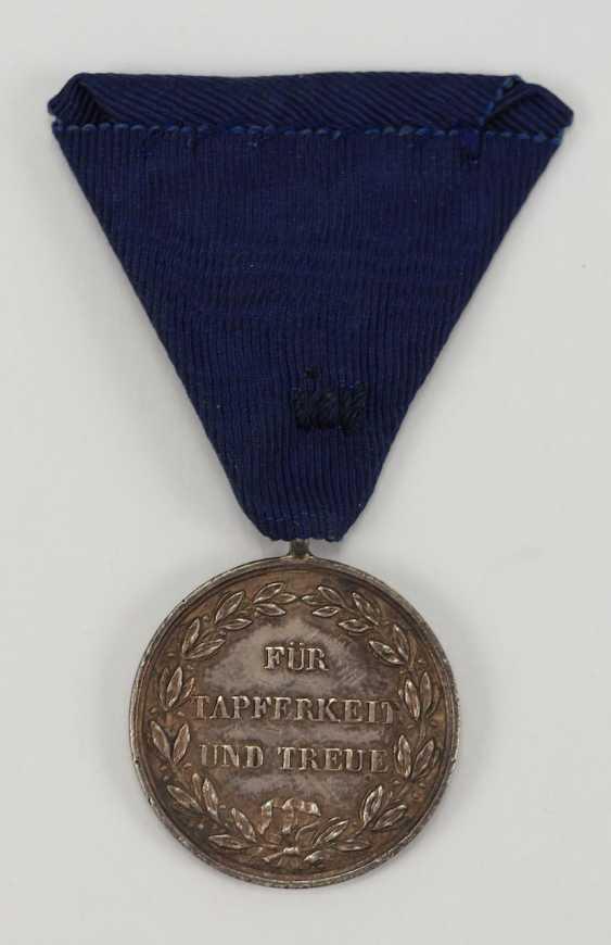 Württemberg: military merit medal, Karl (1864-1891), silver. - photo 3