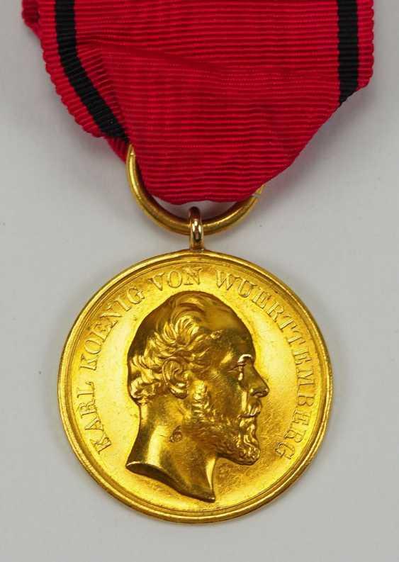 Württemberg: civil order of merit, Karl (1864-1891), in Gold. - photo 1
