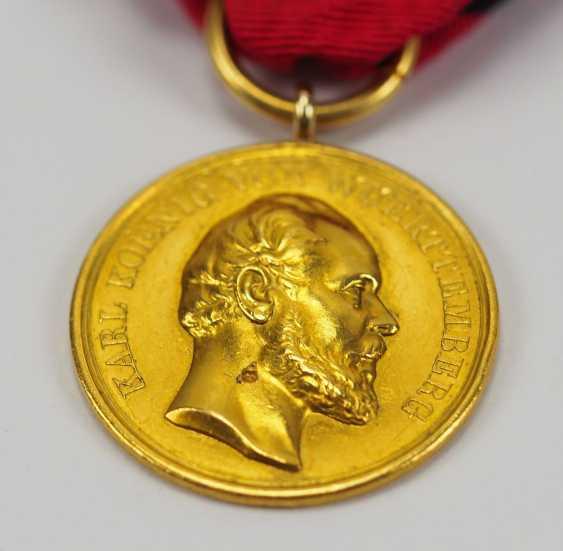 Württemberg: civil order of merit, Karl (1864-1891), in Gold. - photo 2