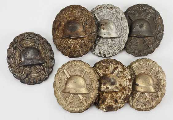 German Empire: Lot of 7 1918 wounded badges for the army, silver. - photo 1