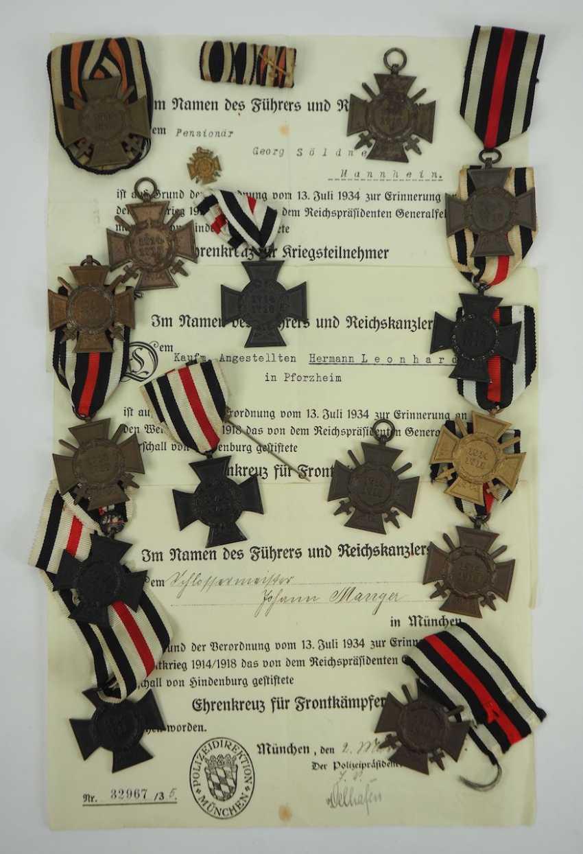 German Empire: Lot of 15-Hindenburg Cross. - photo 1