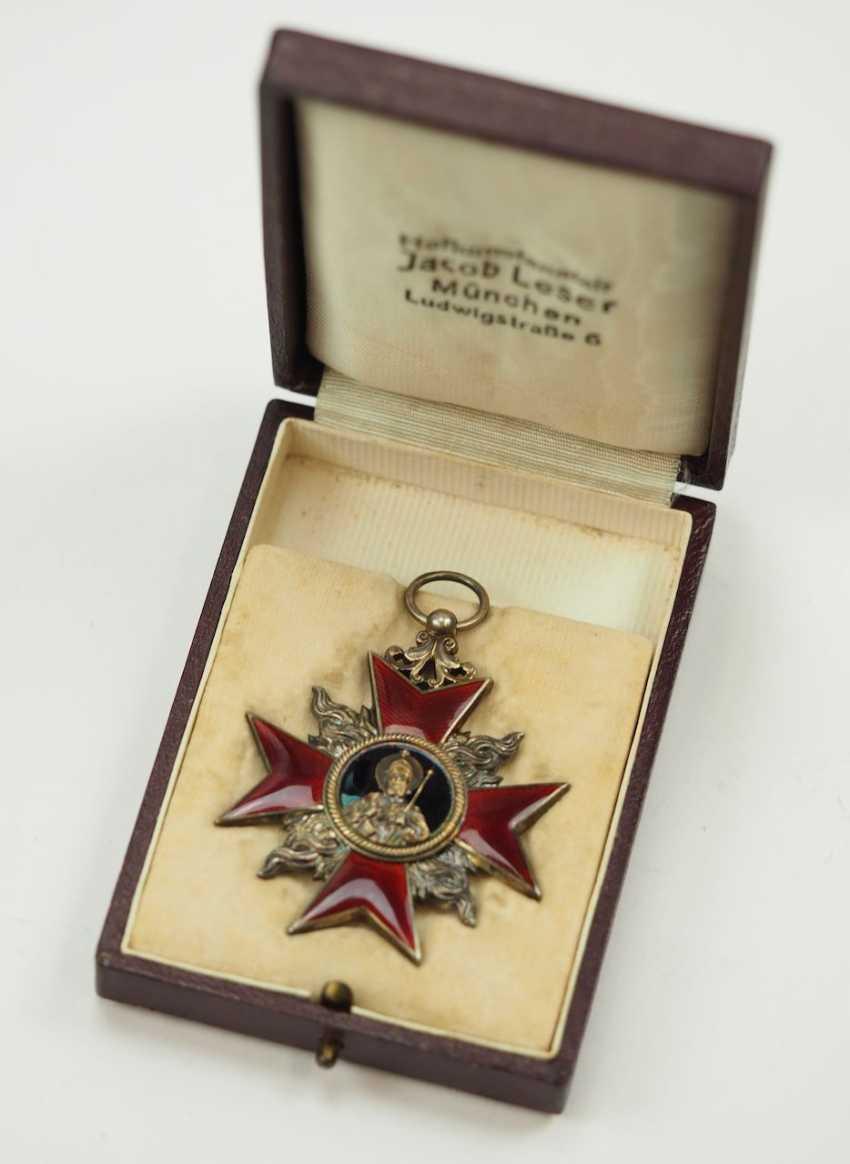Weimar Republic: German Firefighter Honor Cross, 1. Class, in a case. - photo 1