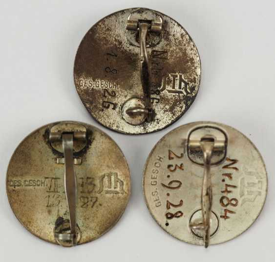 Veterans Association: Lot of 3 stahhelm Federal admission badge. - photo 2