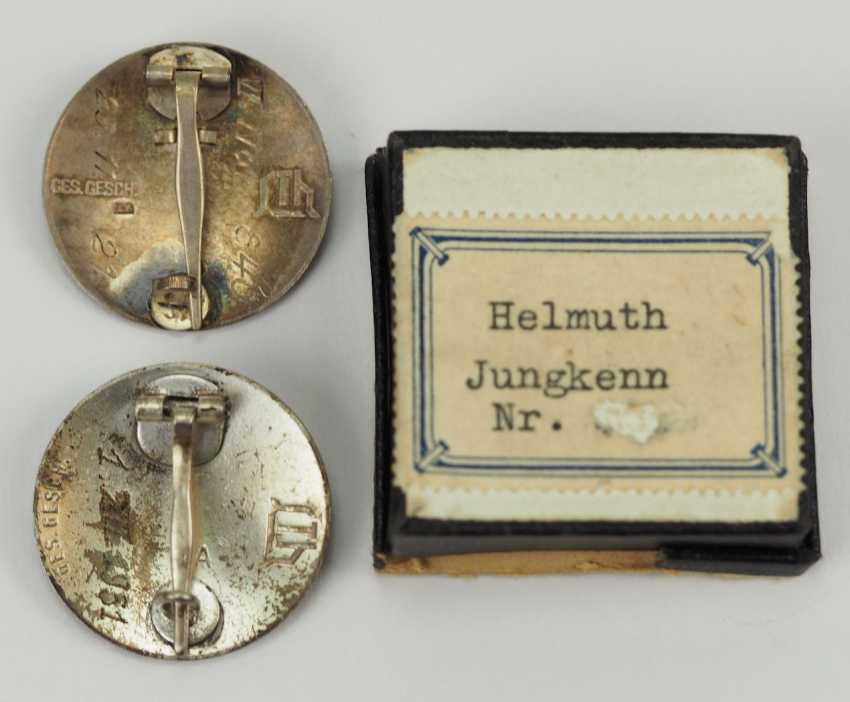 Veterans Association: Lot of 2 stahhelm Federal admission badge. - photo 2