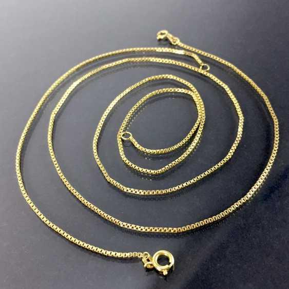 Venetian-chain, and Venezialer bracelet: yellow gold 333 - photo 1