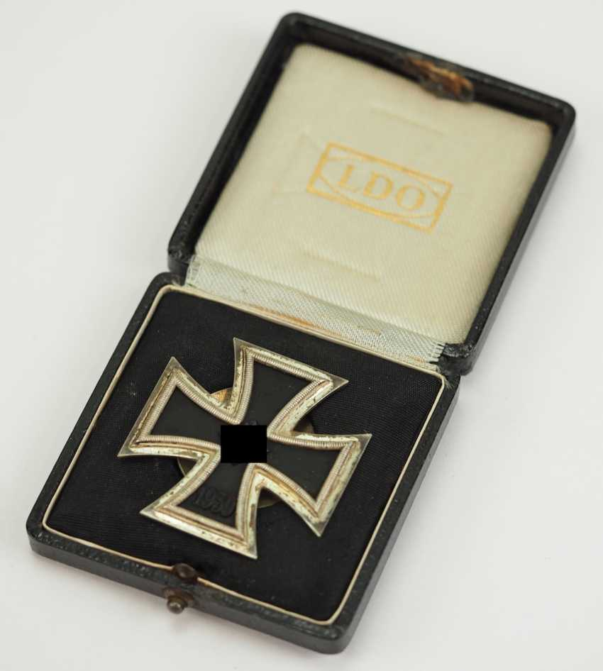 Iron Cross, 1939, 1. Class, in a case - Screw plate L/18. - photo 2