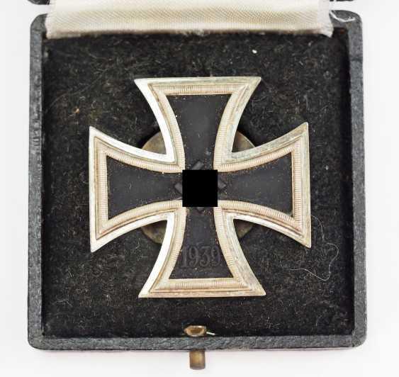 Iron Cross, 1939, 1. Class, in a case - Screw plate L/52. - photo 2