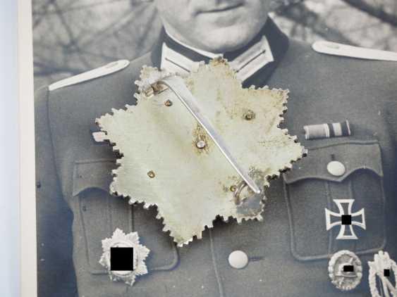 "German cross in Gold, with certificate of Lieutenant Rudolf Bärthel - commander of 10./ Infantry-Regiment 271 ""Feldherrnhalle"". - photo 3"