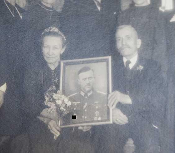 "German cross in Gold, with certificate of Lieutenant Rudolf Bärthel - commander of 10./ Infantry-Regiment 271 ""Feldherrnhalle"". - photo 7"