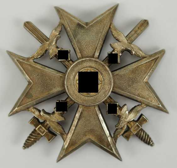 Cross of Spain, silver, with swords. - photo 1