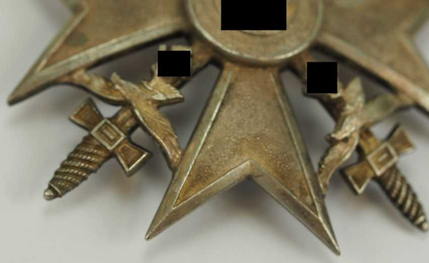 Cross of Spain, silver, with swords. - photo 2