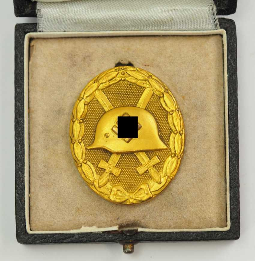 Wounded badge, 1939, Gold, in the case 30. - photo 2