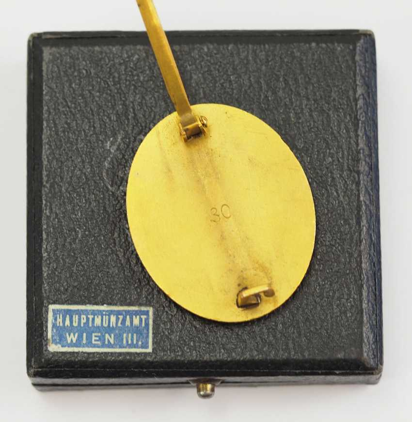 Wounded badge, 1939, Gold, in the case 30. - photo 3