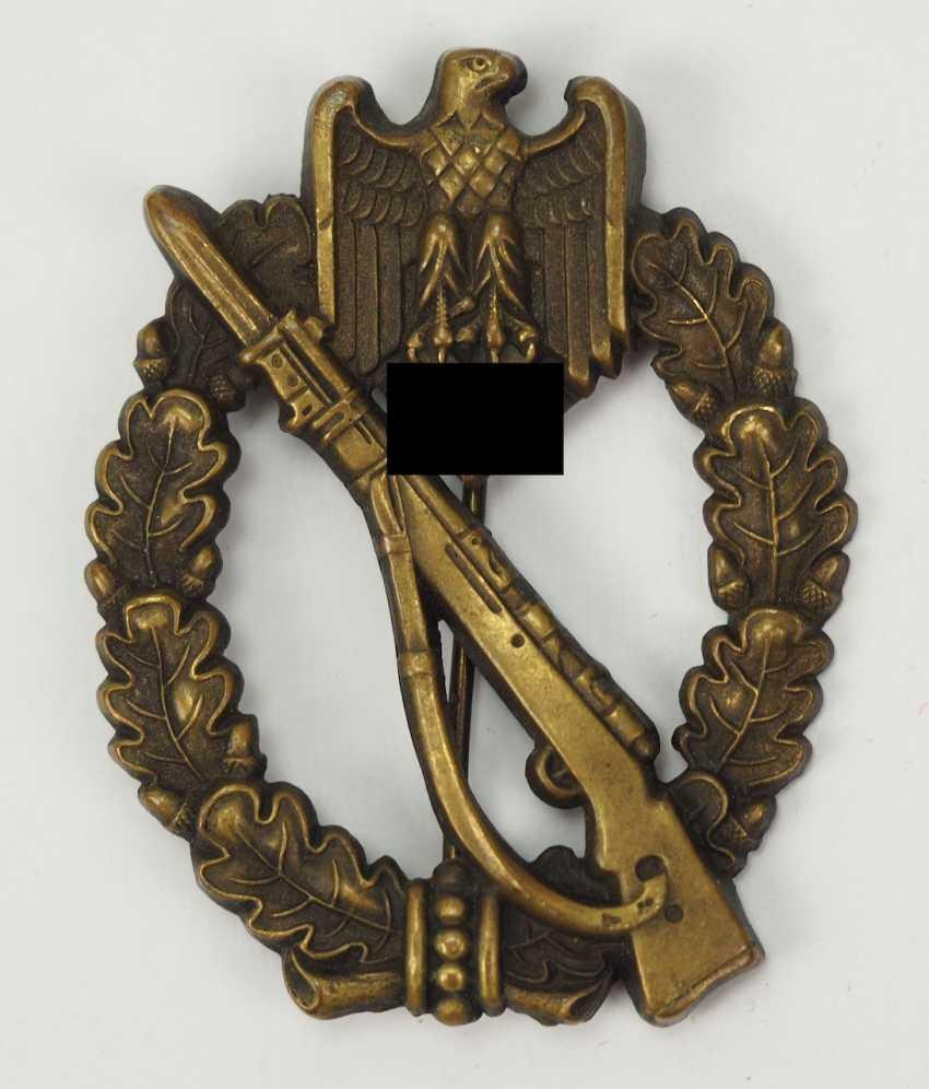 Infantry assault badge, Bronze - hollow. - photo 1