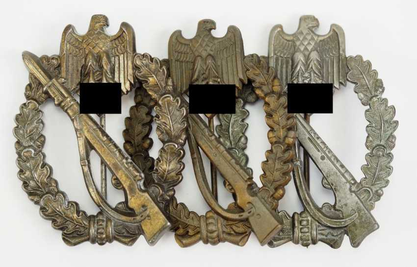 Lot of 3 infantry assault badge, Bronze. - photo 1