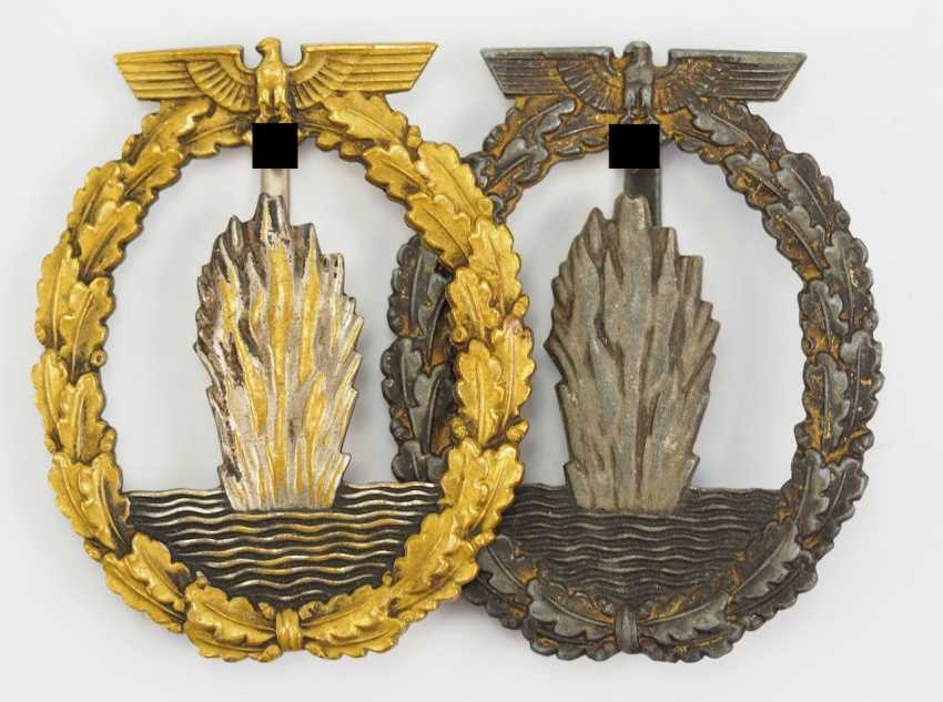 Lot of 2 war badge for Minesweeper, U-boat hunting and security associations. - photo 1