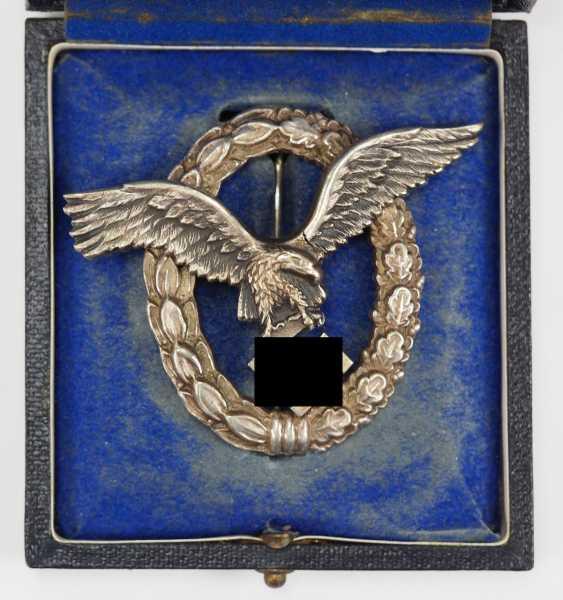 Pilot badge, in a case - AWS. - photo 1