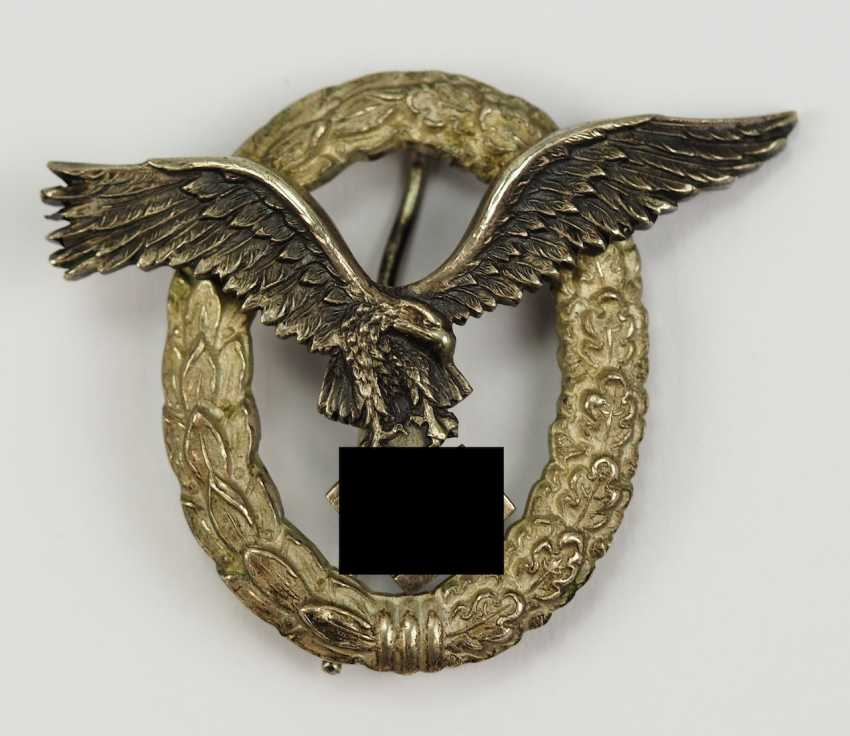 Pilot badge, in a case - C. E. Juncker. - photo 2