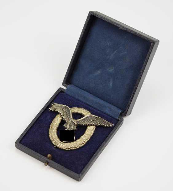 Pilot badge, in a case - C. E. Juncker. - photo 5